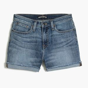 J Crew Factory High Rise Denim Cutoff Shorts